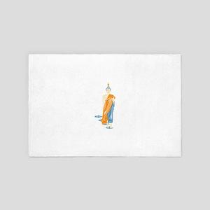Standing Buddha (White) 4' x 6' Rug