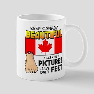 Leave Only Feet Mug