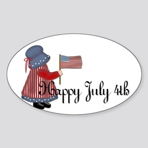 Happy July 4th - Little Count Oval Sticker