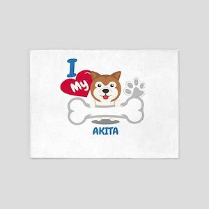 AKITA Cute Dog Gift Idea Funny Dogs 5'x7'Area Rug