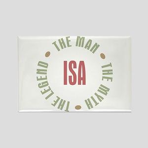 Isa Finnish Dad Man Myth Rectangle Magnet