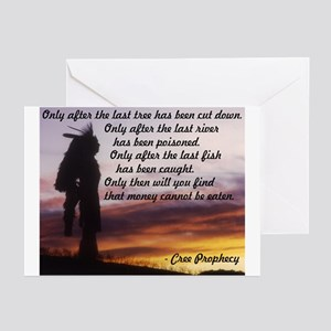 Native american greeting cards cafepress native prophecy environment greeting cards pack m4hsunfo