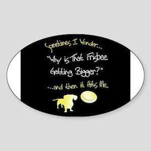 Frisbee Oval Sticker