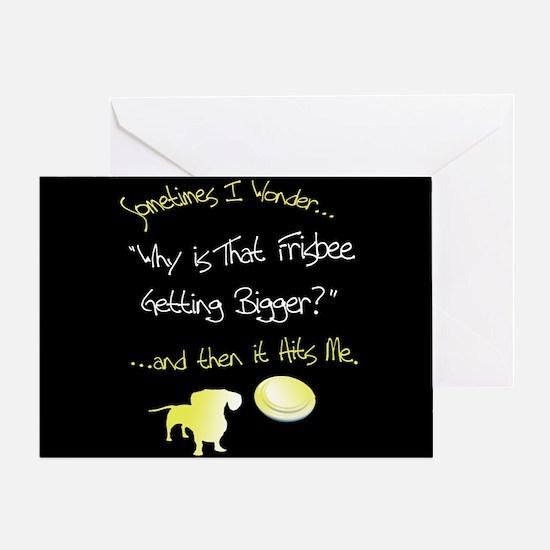 Frisbee Greeting Card