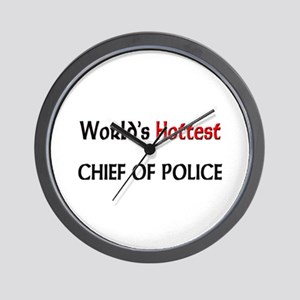 World's Hottest Chief Of Police Wall Clock