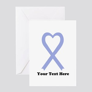 Personalized Periwinkle Ribbon Greeting Card