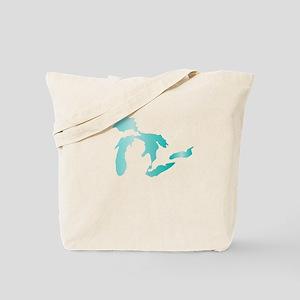 Great Lakes Aqua Tote Bag