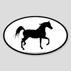 Arabian Horse Oval (blk border) Oval Sticker