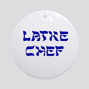 Latke Chef Ornament (Round)
