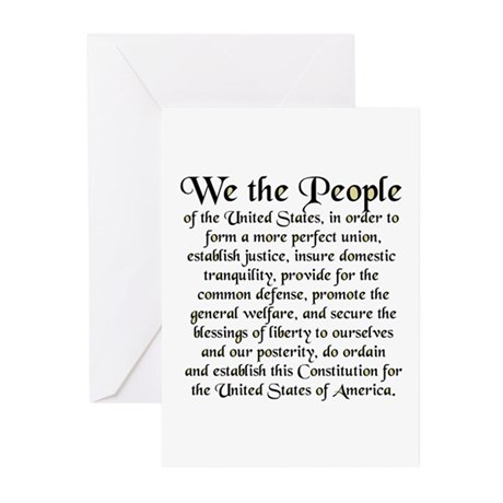 We the People US Greeting Cards (Pk of 10)