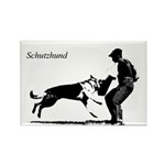 SCHUTZHUND,German Shepherd Rectangle Magnet (10 pa