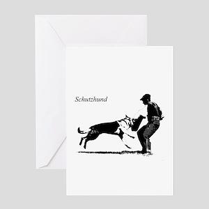 SCHUTZHUND,German Shepherd Greeting Card