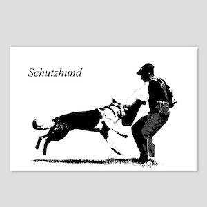 SCHUTZHUND,German Shepherd Postcards (Package of 8