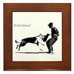 SCHUTZHUND,German Shepherd Framed Tile