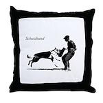SCHUTZHUND,German Shepherd Throw Pillow