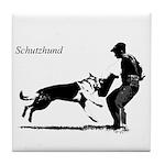 SCHUTZHUND,German Shepherd Tile Coaster
