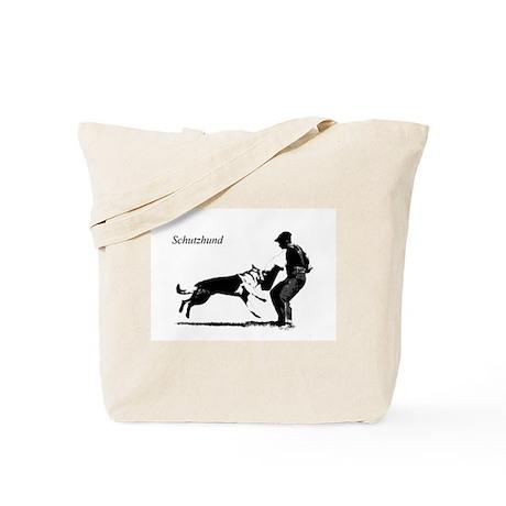 SCHUTZHUND,German Shepherd Tote Bag
