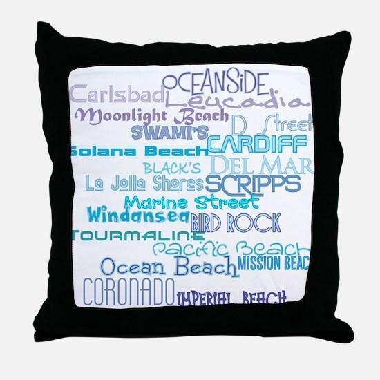 Cute Personalized beach Throw Pillow