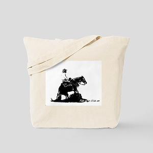 Ride em 'n Slide em,reining h Tote Bag