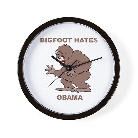 Bigfoot Hates Obama Wall Clock