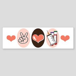 Peace Love Phlebotomy Bumper Sticker