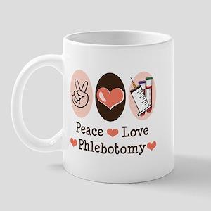 Peace Love Phlebotomy Mug