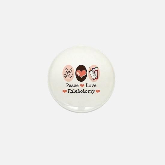 Peace Love Phlebotomy Mini Button