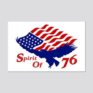 Spirit of 76! USA Patriotic Mini Poster Print