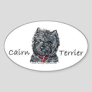 Cairn Terrier Best Friend Oval Sticker