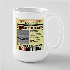 87 birthday Large Mug
