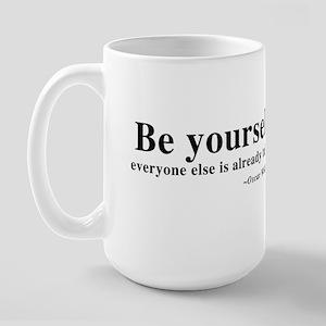 Oscar Wilde - Be Yourself Large Mug