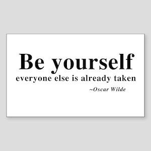 Oscar Wilde - Be Yourself Rectangle Sticker