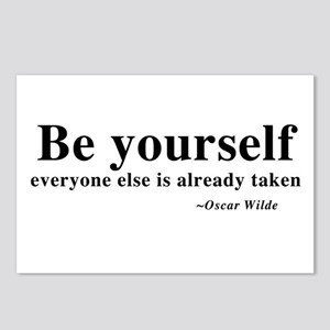 Oscar Wilde - Be Yourself Postcards (Package of 8)