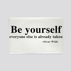 Oscar Wilde - Be Yourself Rectangle Magnet