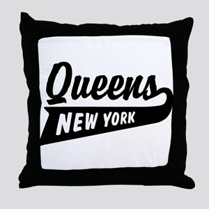 Queens New York Throw Pillow