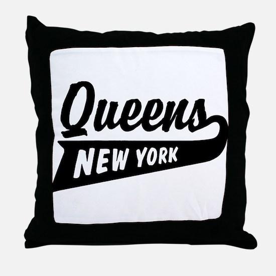Queens New York Throw Pillow