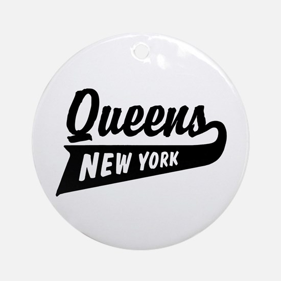 Queens New York Ornament (Round)