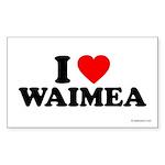 I Love Waimea - Rectangle Sticker 50 pk)