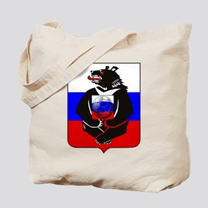 Russian Football Bear Tote Bag