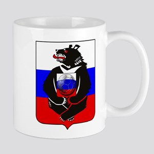 Russian Football Bear 11 oz Ceramic Mug