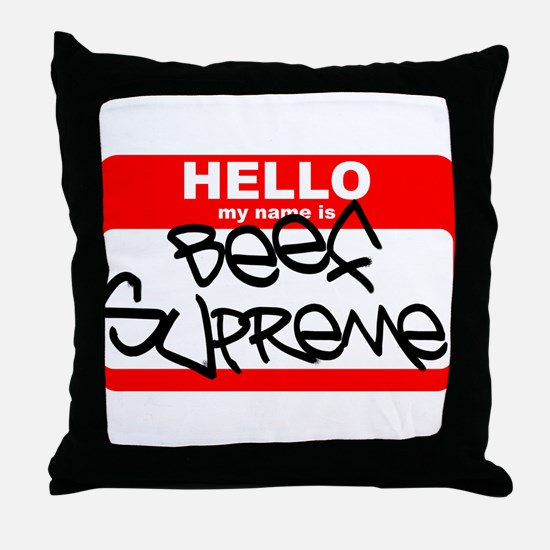 Beef Supreme Throw Pillow