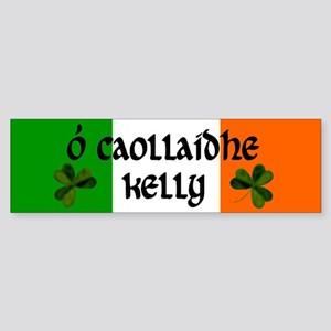 Kelly in Irish & English Bumper Sticker