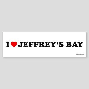 I Love Jeffrey's Bay - Bumper Sticker