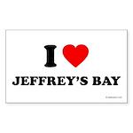 I Love Jeffrey's Bay - Rectangle Sticker 10 pk)
