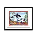 Pickpocketing Whales Framed Panel Print