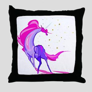 Pink & Purple Unicorn Throw Pillow