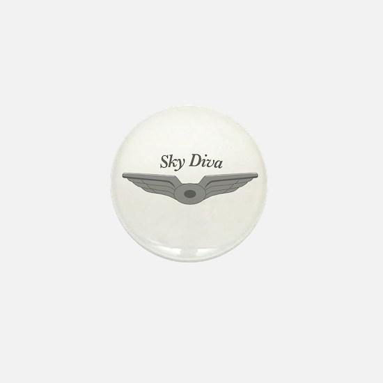 Cute Flight attendant Mini Button