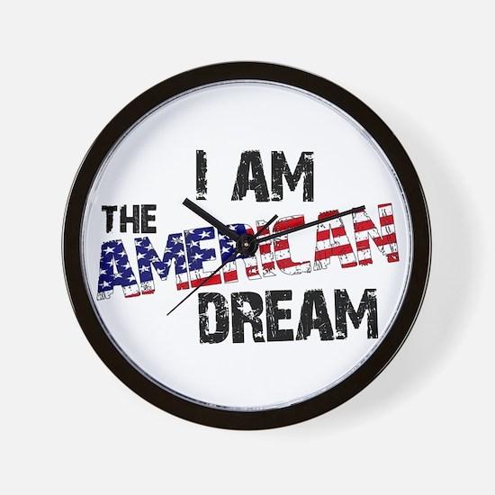 I Am The American Dream Wall Clock