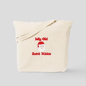 Jolly Old Saint Abbie Tote Bag