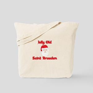 Jolly Old Saint Braeden Tote Bag